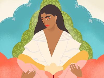 My Temple painting art illustration body positive wellness womens health menstruation spiritual temple body