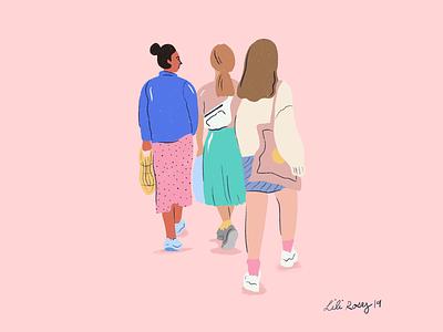 Walking City streetstyle girls pink walking city pastal