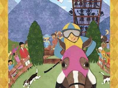 Steeplechase collage horse race north carolina cut paper