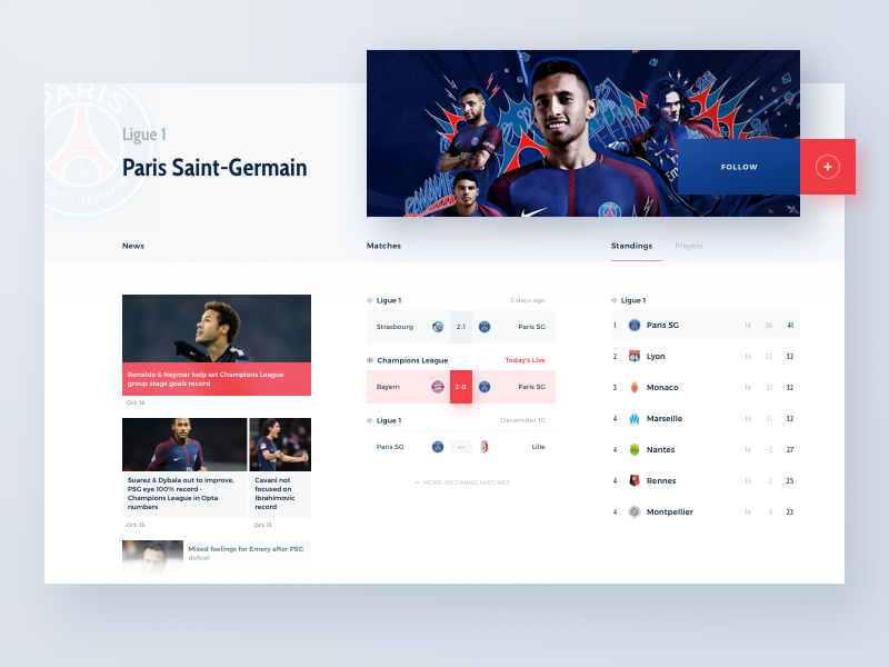 sports website concept team by chill lee dribbble dribbble
