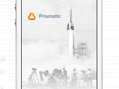 Prismatic on the iPhone futurist ios app iphone news phone icon application ui prismatic typography design logo modernist