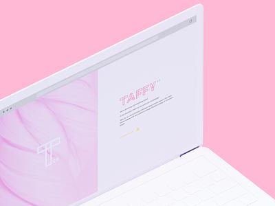Taffy Co Splash Page ui design brand design website