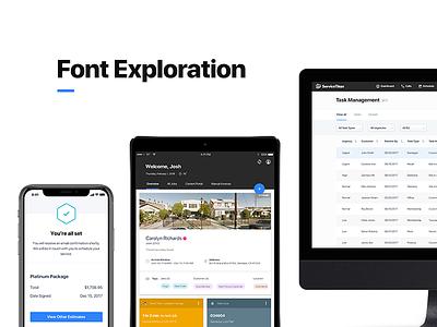 In Progress - Type saas process design uiux design system typography fonts