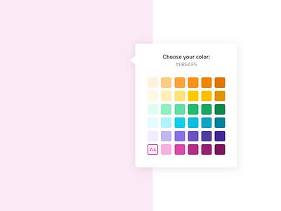 Color Picker product design ui design color picker color