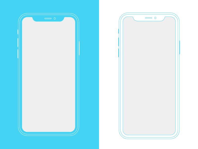 Free iPhoneX Outline Mockup download free ui deisgn mock up iphone iphonex design
