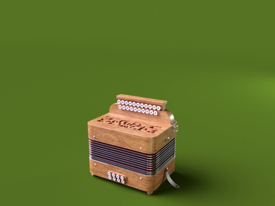 Accordeon re-rendered animation nael everynowandthen hdrilink octane 3d c4d
