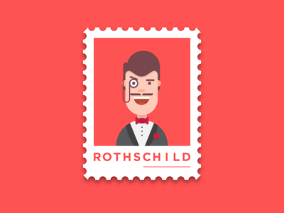 Rothschild noble postcard people avatar dusuacangmong stamp character economic rothchild