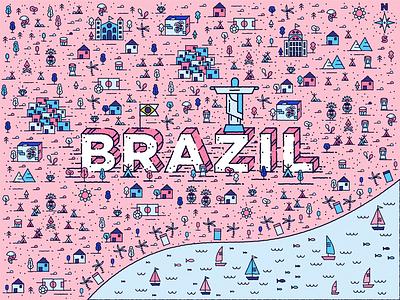 Brazil mule sticker sticker mule ocean sea samba footbal city brazil