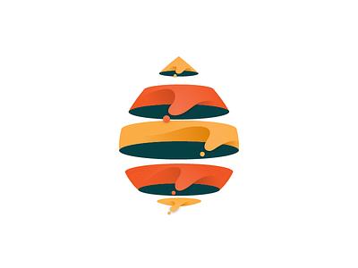 Drop sea ocean drop water monogram logo drop logo