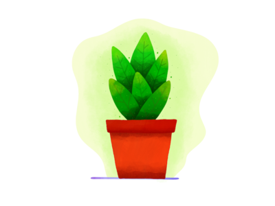 Plant green pot leaves illustration forest tree plant