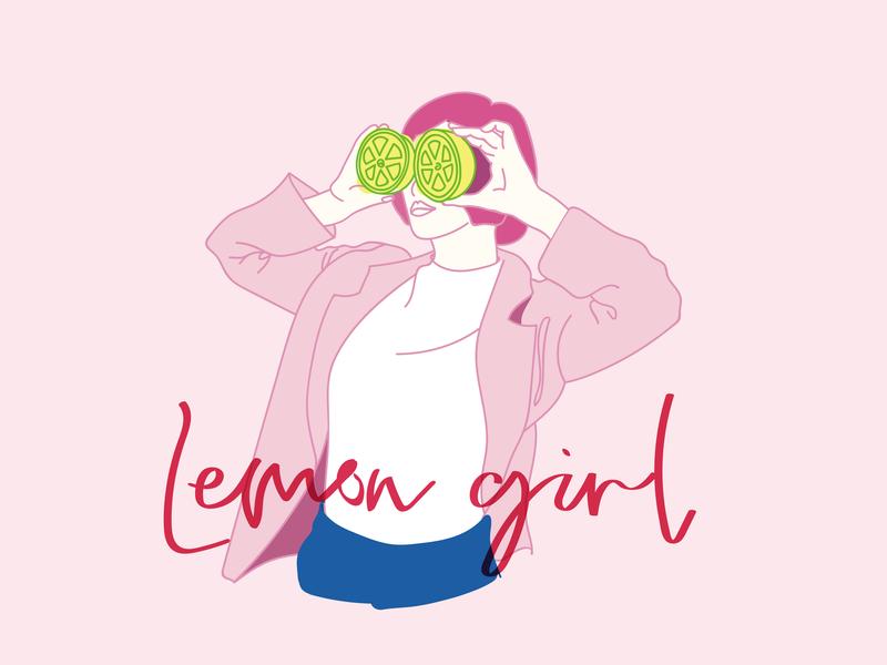 Lemon girl lemon girl line art 插图 女孩 dribbble 艺术 lemon