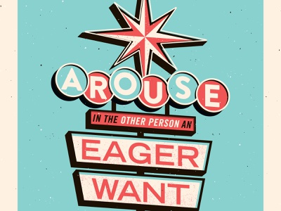 2. Arouse in the other person an eager want signage vector vintage how to win friends typography illustration