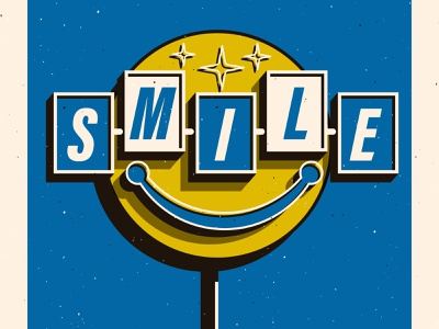 5. Smile vector vintage signage how to win friends typography illustration