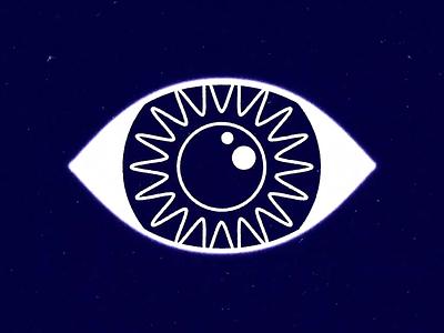 Psychic Vision texture wavy psychic eye motion graphics mograph illustration