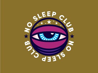 No Sleep Club logo eye parenthood no sleep badge