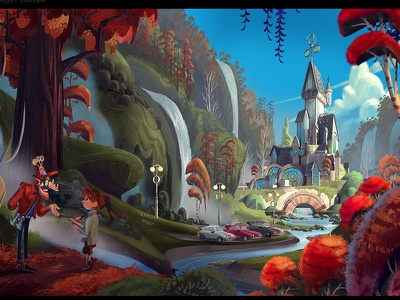 Pitch Image environment design animation set design illustration concept art visual development