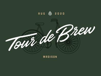 Tour de Brew beer bike logo design madison logo