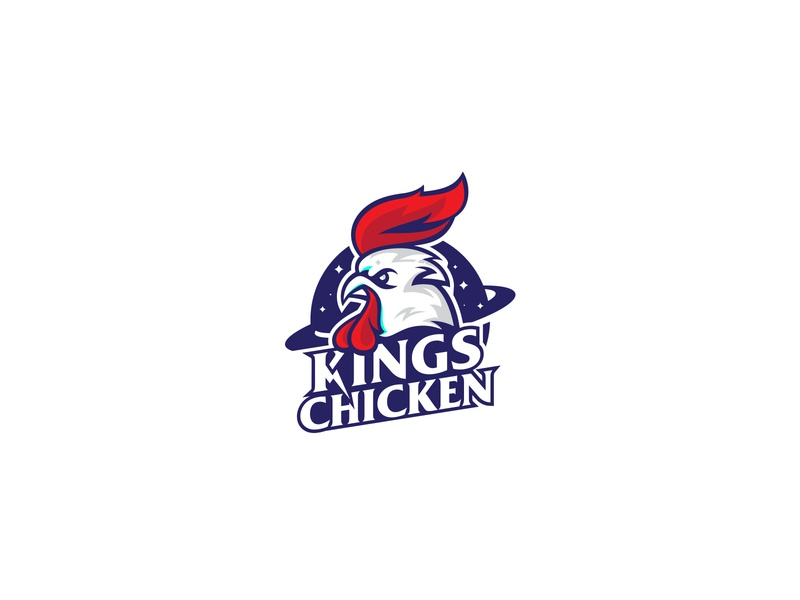 Kings Chicken Logo vector brand branding logo-brand logodesign logo-design logo illustration logodesign design