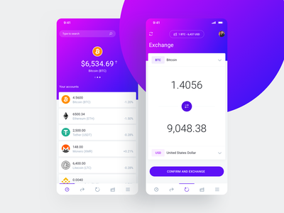 IOWallet UI Kit for Cryptocurrency Wallet Apps fintech exchange wallet wallet ui financial ethereum bitcoin crypto exchange cryptocurrency crypto wallet crypto mobile app mobile ui ux management ui kit ui app admin dashboard