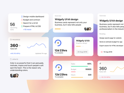 iOS Home Screen Widgets UI Pack template mobile app mobile ui product design productivity ios widgets widget ios14homescreen ios14 ios ux ui kit ui dashboard app