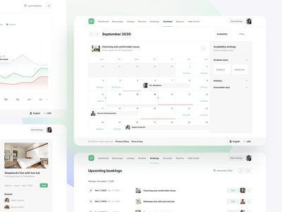 Apartments booking settings - Roomsfy UI Kit room flat rental apartment apartments rent home calendar website booking app booking airbnb management ux ui ui kit admin dashboard app