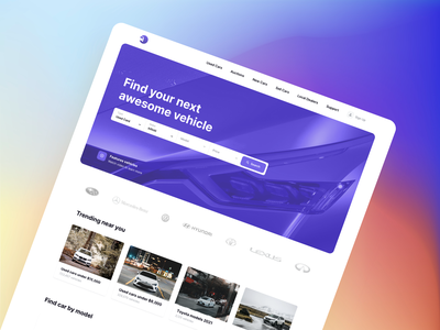 Car Dealership Landing Page - Vehically UI kit landing design landing page auction copart automobile auto dealership dealer rental rent vehicle car ux ui ui kit admin dashboard