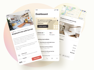 Room Booking App - Roomsfy UI Kit map screen mobile app flat airbnb room booking booking share rent apartment room project management ux saas ui kit ui admin app dashboard