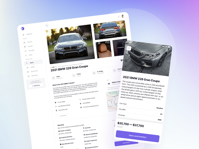 Car Model Description Page - Vehically UI kit landing rental rent dealership dealer copart model details auction automobile vehicle auto car app ux saas ui kit ui admin dashboard