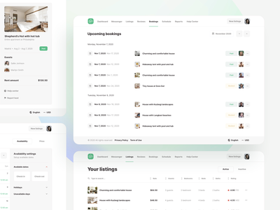 Room Booking Schedule - Roomsfy UI Kit design calendar design calendar schedule booking system rental rent flat room hotel booking app airbnb booking app ux saas ui kit ui admin dashboard