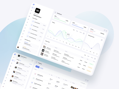 Dashboard Reports - BetaCRM SaaS UI Kit wireframe layout software portal metrics graphics report crm design ux saas ui kit ui admin app dashboard