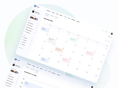 Calendar App - IODash Multipurpose UI Kit task productivity inspiration concept website web date event schedule management project calendar design ux saas ui kit ui admin app dashboard