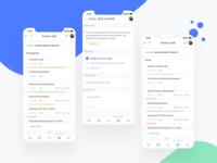 Mobile App - Kanban desk dashboard