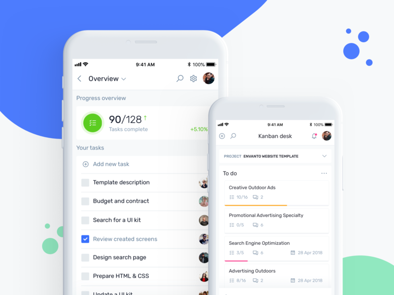 ToDo App, Mobile Kanban Desk task list todo list todolist todo app todo productivity ios app jira admin trello asana calendar project task management kanban kit ui dashboard