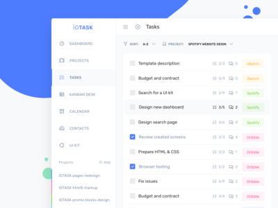 IOTask - Project tasks management page