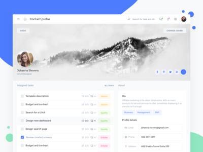 User Profile - IOTask Web UI Kit