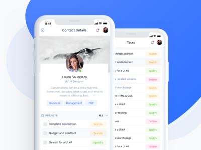 IOTask Mobile UI Kit - User Profile Screen