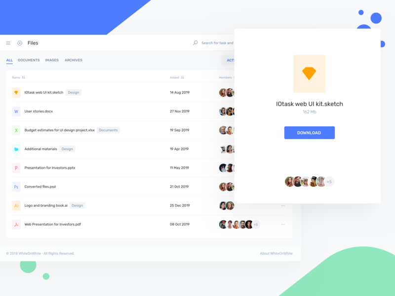 File Management - IOTask Web UI Kit by WhiteOnWhite Digital on Dribbble