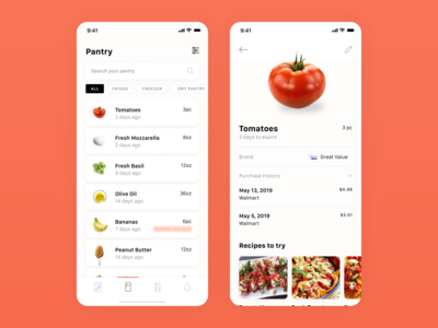 Mobile Application - Pantry App