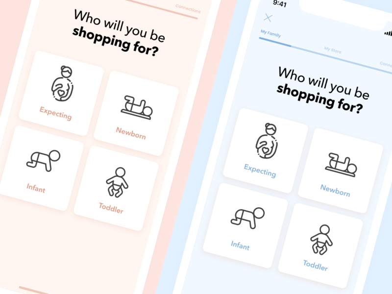 Mobile Design - Parenthood App minimalistic mobile app application app minimal dailyui app design ui mobile ux