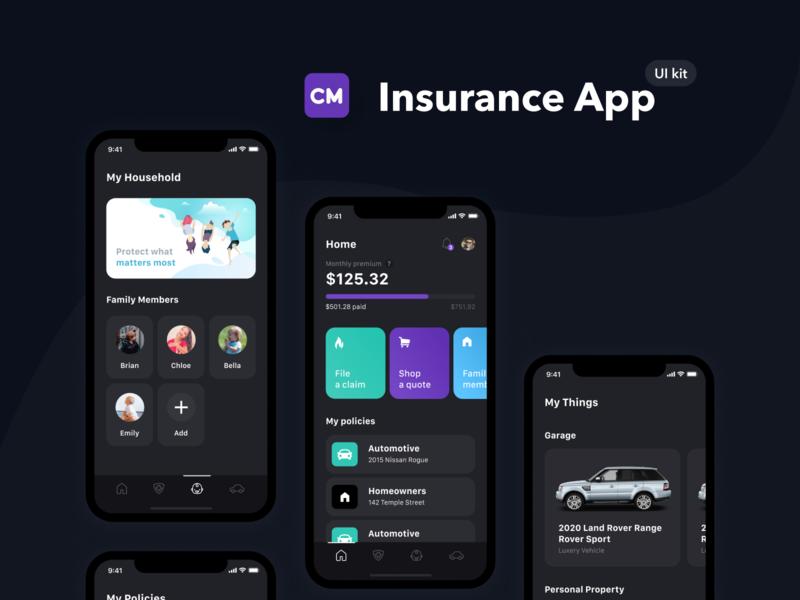 Checkmate iOS Mobile UI Kit ux  ui ux uxui mobile app mobile ui mobile ui kit daily ui dailyui figma insurance mobile insurance mobile insurance app