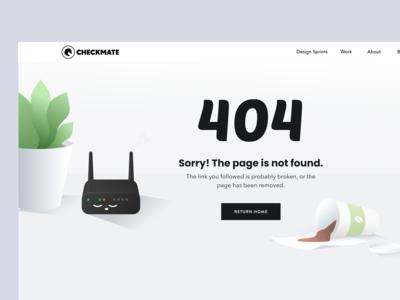 Website Design - Checkmate Digital 404