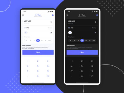 Mobile Design - Cryptocurrency Trading App mobile ui design mobile uiux application design mobile app application mobile ui dailyui daily ui cryptocurrency trading trading platform