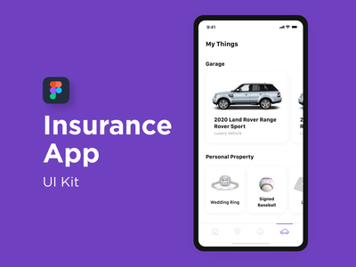 Mobile Design - Insurance App ui kit mobile ui app application mobile app app design dailyui mobile ui ux