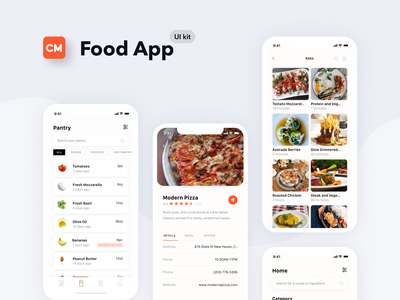 Mobile Design - Food App ui kit mobile ui app application mobile app app design dailyui mobile ui ux