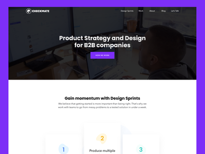 Website Design - Checkmate Digital Home agency landing page design ui design ui  ux website design web page website web landing landing page ui ux