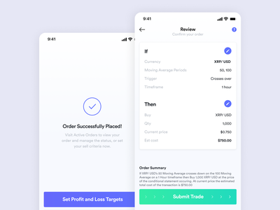 Mobile Design - Cryptocurrency Trading App bitcoin trading platform trading cryptocurrency design app application mobile ui mobile app app design dailyui mobile ui ux