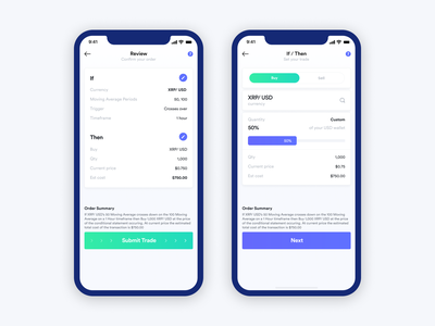 Mobile Design - Cryptocurrency Trading App bitcoin trading platform trading app trading cryptocurrency mobile ui app application mobile app app design dailyui mobile ui ux