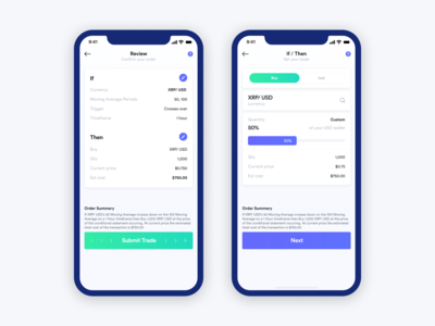Mobile Design - Cryptocurrency Trading App