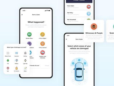 Mobile Design - Consumer Insurance auto insurance insurance app insurance daily ui mobile ui app application mobile app app design dailyui mobile ui ux