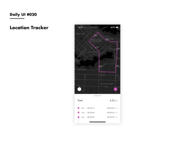 Daily UI #020 Location Tracker